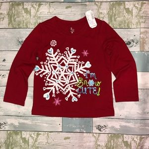 Children's Place Toddler Girls Snowflake Shirt 4T